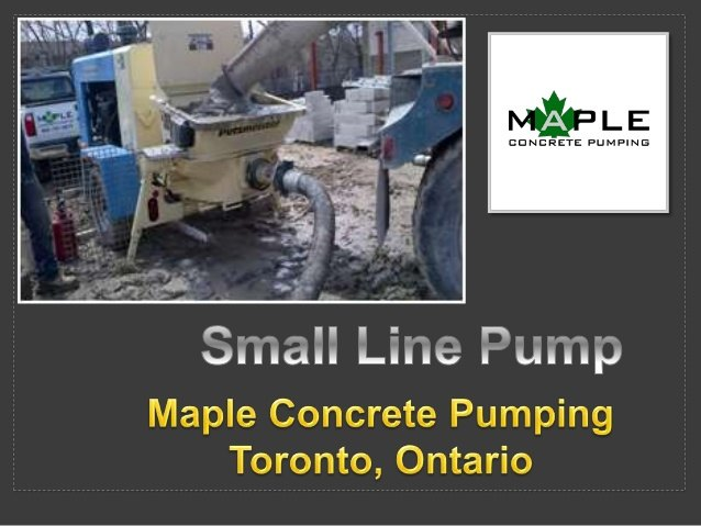 small-line-pump-maple-concrete-pumping
