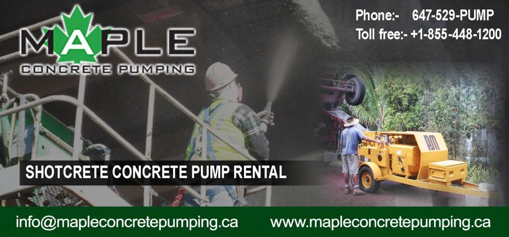Shotcrete Concrete Pump Rental