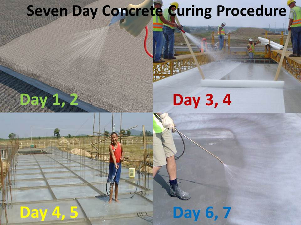 Seven Day Concrete Curing Procedure