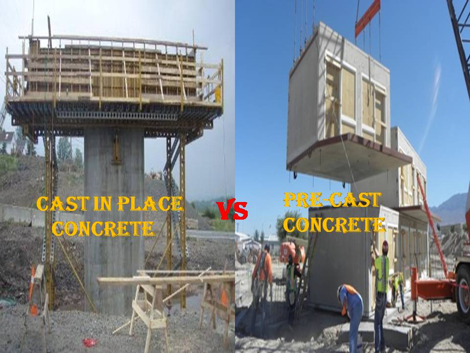 Cast in place and Precast concrete