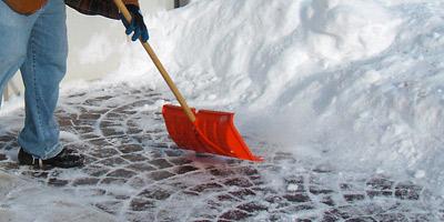 snow shovel concrete