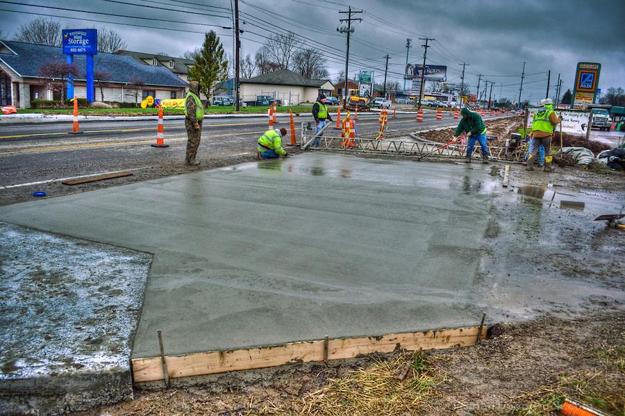 Concrete pour In The Rainy Season