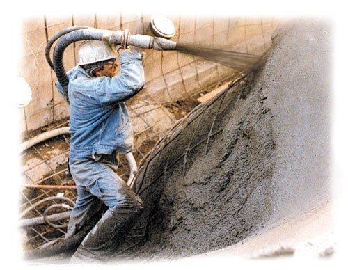 Shotcrete or Sprayed Concrete
