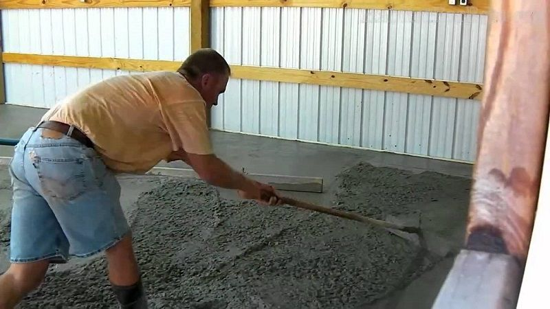 concrete floor pour