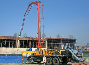 obstacles of concrete pump