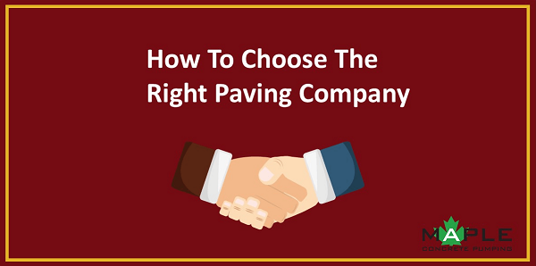 finding the right paving company