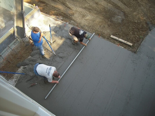 flatening concrete