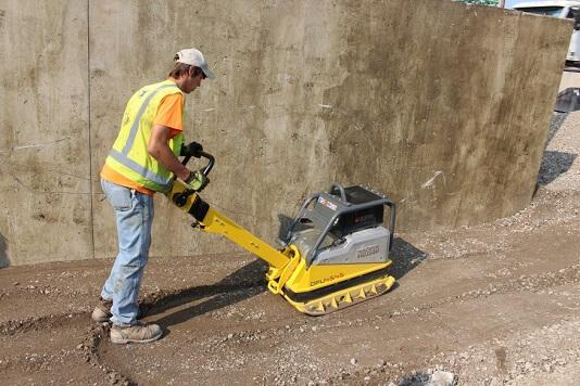 preparing site for poring concrete