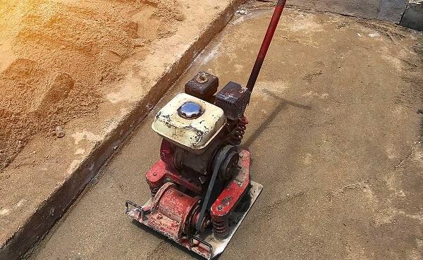 Preparing Concrete Site