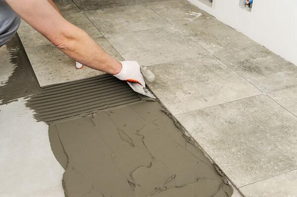 Easy Repair of Concrete Look Tiles