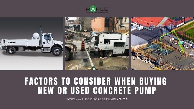 used concrete pump